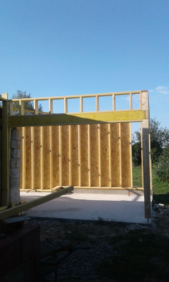 Construction en bois pour un garage réalisé par Morin Construction Bois dans le Maine et Loire 49